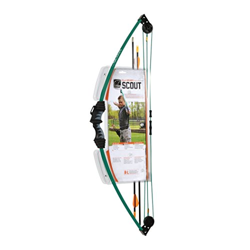 Bear Archery Scout Youth Bow Only - Hunter Green - Recommended for Children 4 to 7 Years Old ()