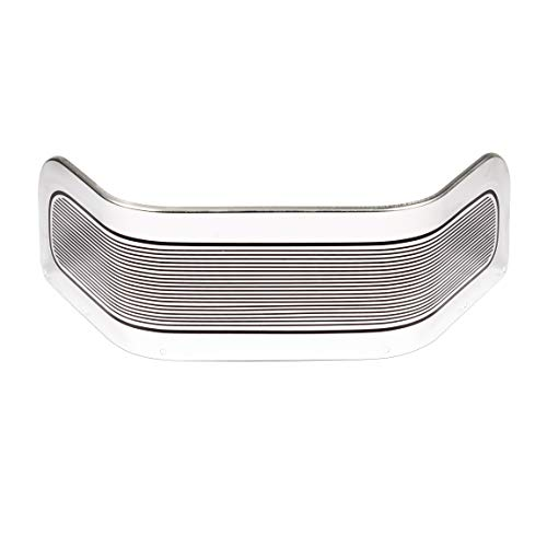 Lalaparts Chrome Ribbed Front Fender Trim Skirt Compatible for Harley Touring Road King Electra Glide 2014-2018