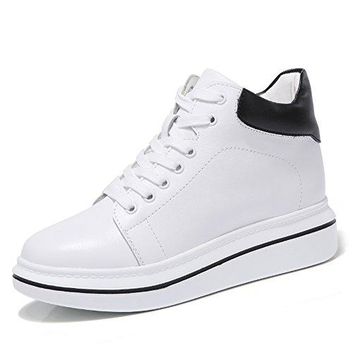 Stq Donne Scarpe Stringate In Pelle Alta Moda Casual Sneakers Studente  Leggero Bianco 90505970f9e