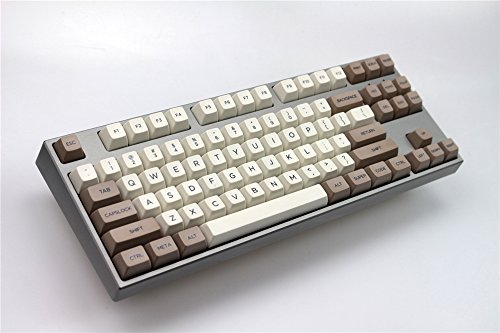 ONECAP Retro Beige 134 Keys SA PBT Keycap Sublimation Keycap Cherry MX Switch keycaps for Wired USB Mechanical Gaming Keyboard (134 Keys, TOP-Print KEYCAP)