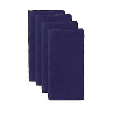 Kate Spade Larabee Dot Napkin (4 Pack), 20 x 20 , Navy
