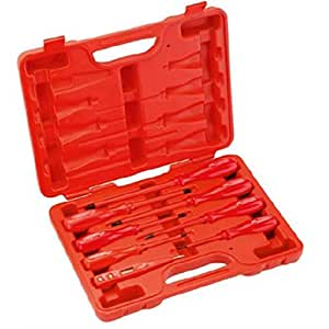 Jetech Insulated Screwdrivers Set 8 Pieces, Red Is-8s