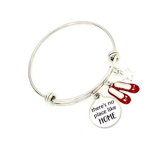 Theres No Place Like Home Wizard of Oz Inspired Bangle Bracelet