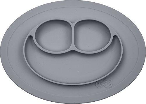 《에듀테》 ezpz (이지 피 지) 미니 매트 회색 딱 흡착 뒤집어 않는 실리콘 베이비 식기 / 블루 / 민트 / 라이트 그레이 / 라임 / 로즈핑크 / 코랄 / 레몬