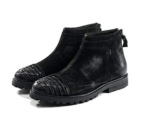 DANDANJIE Men's Boots Winter Retro Boots British Style Zip Martin Shoes