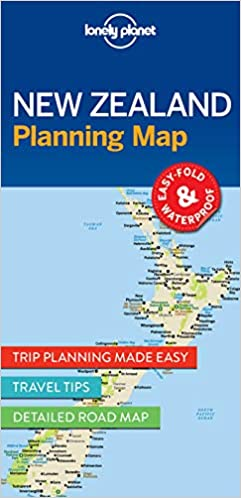 Travel Map New Zealand.Lonely Planet New Zealand Planning Map Amazon Co Uk Lonely