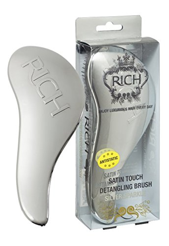 RICH Hair Care Satin Touch Detangling Brush, Silver Sparkle ()
