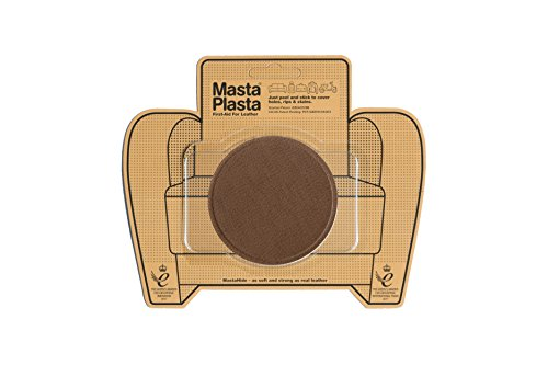 (MastaPlasta Self-Adhesive Patch for Leather and Vinyl Repair, Large Circle, Tan - 3 Inch Diameter - Multiple Colors Available)