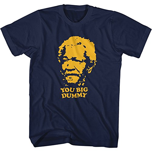 sanford-and-son-you-big-dummy-t-shirt-blue-apparel-size-x-large
