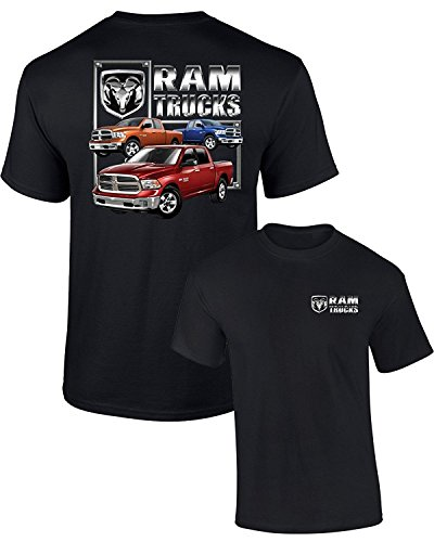 DODGE T-SHIRT RAM TRUCKS (3 TRUCKS) F&B GUTS GLORY, Black, 3XL