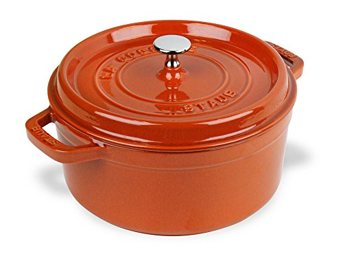 Staub 11028806 Cast Iron Round Cocotte 7-quart Burnt Orange