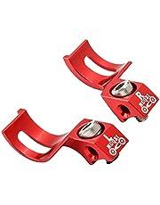 BESPORTBLE 2Pcs Alavanca Do Freio de Bicicleta Guiador Da Liga de Alumínio Alavanca Do Freio de Bicicleta para A Maioria de Bicicleta de Estrada Bicicleta Mountain Bike (Vermelho)