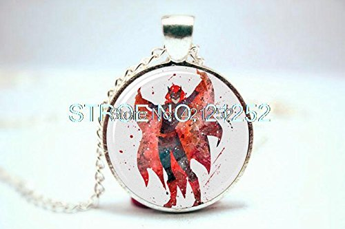 Maya Diamond Necklace (Pretty Lee 2015 Fashion Superhero Batwoman Art Print Necklace Glass Photo Cabochon Necklace Christmas gift)