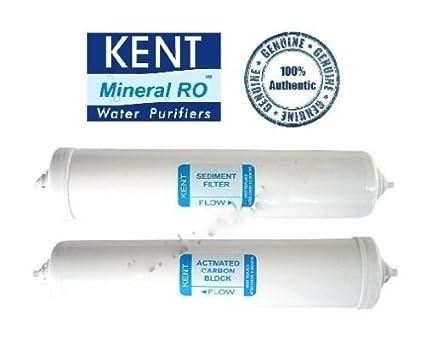 Kent Ro Spares: 100% Original Inline Sediment Filter 10 inch & Pre Carbon Filter Set 8 inch