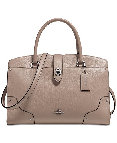 COACH Women's Mercer 30 Satchel Silver Stone Satchel by Coach