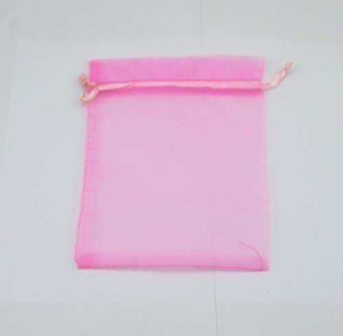 EDENKISS Blue Turquoise Color Drawstring Organza Jewelry Pouch Bags 2.8x3.6 4x6 5x7 Wholesale Option 100, 2.8x3.6