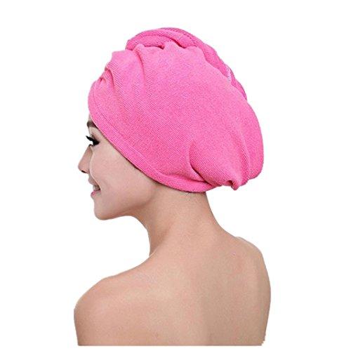 Iuhan® Women Microfiber Bath Towel Hair Dry Hat Cap Quick Drying Lady Bath Tool