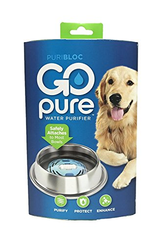 Tap Ceramic Dog Bowl (PuriBloc GoPure Pet Drinking Water Purifier - Purification Pod for Your Pet's Water Bowl - Improves the Taste and Freshness of Tap Water -Clean, Healthy and Great Tasting Water for Your Dogs and Cats)