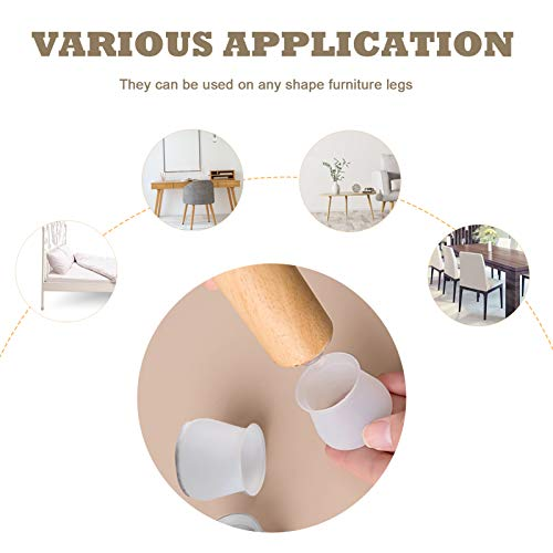 20pcs Felt Bottom Chair Leg Covers,Soft Silicone Furniture Foot Protector Pads,Free Move Table Leg Covers,chair Leg Caps Silicone Floor Protector,Stool Leg Caps To Prevent Floor Scratches Reduce Noise