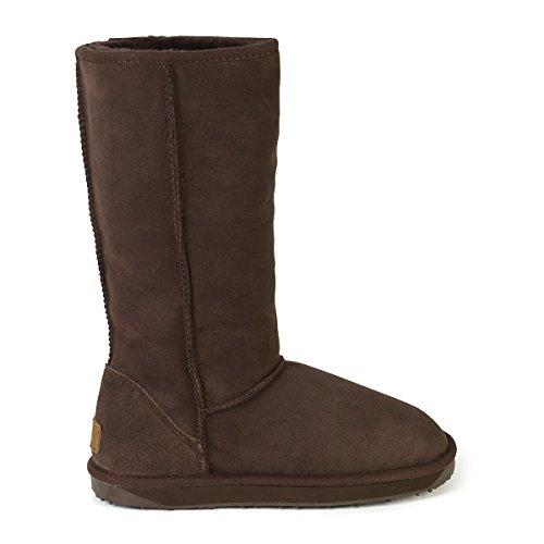 Chocolate Ladies Tall Sheepskin Boots Classic Sheepskin Just 5q0ExHwYW