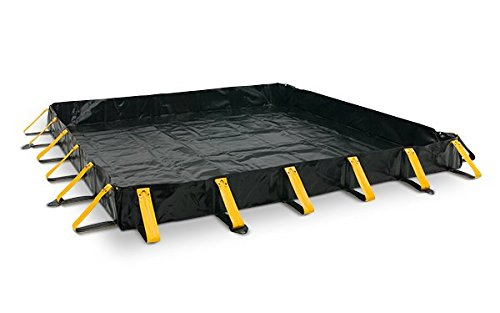 AIRE INDUSTRIAL 911-081012 Portable Containment Berm, 598 gal Spill Capacity, 8' Length x 10' Width x 12