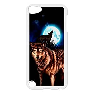 Ipod Touch 5 Cases Elegant Design Wolf Night, Wolf Ipod Touch 5 Case Cute [White]