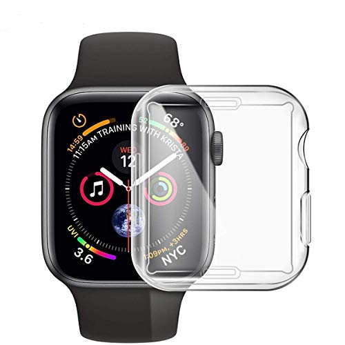(YOCHOS Case for Apple Watch Series 4,iWatch 44mm Screen Protector.Overall Protective Case TPU HD Clear Ultra-Thin Cover for Apple Watch Series 4 (44mm))