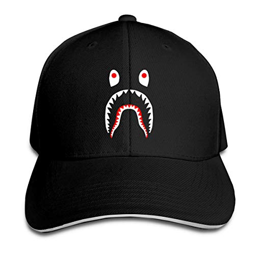(Bape Shark Dagger Kill Classic Women Men Adjustable Baseball Caps Plain Cap Dad Hat Trucker Hat Black )