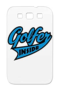 Anti-scuff Golfer Inside Golf Sports Golf Vector Design Golfing Sports Fashion Protective Case For Sumsang Galaxy S3 Navy