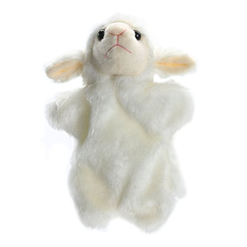 - chinatera Baby Kids Lightweight Easily Animate Hand Puppet Soft Fur Doll Plush Toy Sea Creature Story Telling Prop Play Glove (White)