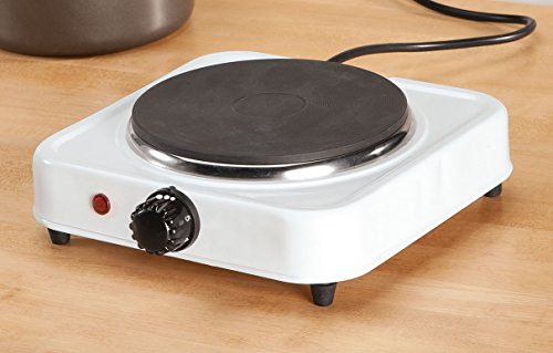 White Solid Single Top Hot Plate by The Home ()