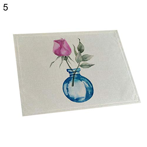 memorytime Flower Bottle Heat Insulated Pad Kitchen Dining Table Tableware Mat Placemat Kitchen Dining Supplies - 5# by memorytime (Image #10)