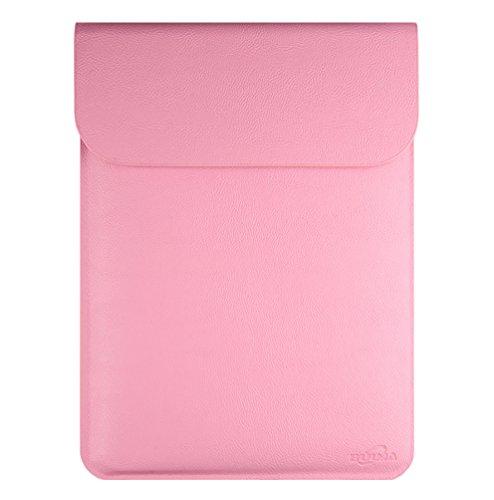 YiJee Ordenador Fundas Bolso Portátiles Maletín Bolsa Sleeve Protectora 13 Pulgada Pink
