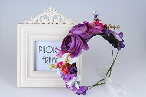Bridal Flower Crown Wedding Headband: S2 (SVR) (Flower Meanings Peony)