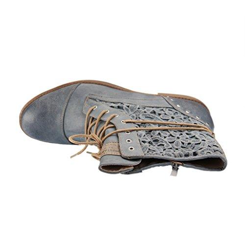 Mustang 1157527 - botas clásicas de caña media Mujer Blau (875 Sky)