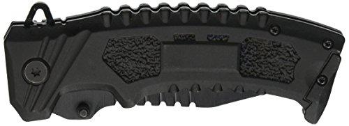 TAC-ForceBlackSawbackTANTOPOINTSpringAssistedOpenTacticalPocketKnife ()