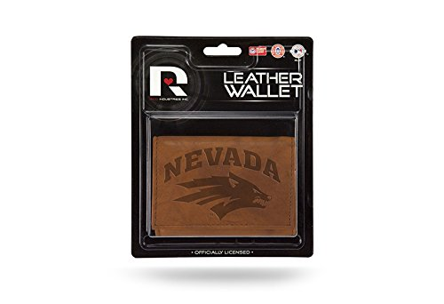 Rico NCAA Nevada Wolf Pack Leather Trifold Wallet with Man Made Interior by Rico