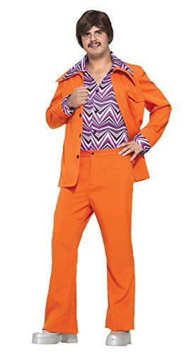 70s Leisure Suits (Leisure Suit 70S Orange Halloween Costume - Most Adults)