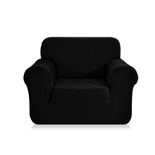 a Covers 1-Piece Polyester Spandex Fabric Slipcovers (Chair, Black) ()