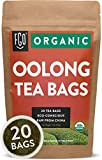 Organic Oolong Tea Bags | 20 Tea Bags | Eco-Conscious Tea Bags in Foil Lined Kraft Pouch | Raw from China | by FGO