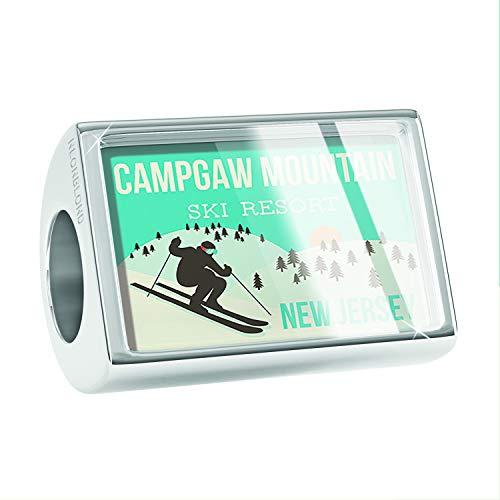NEONBLOND Charm Campgaw Mountain Ski Resort - New Jersey Ski Resort Bead