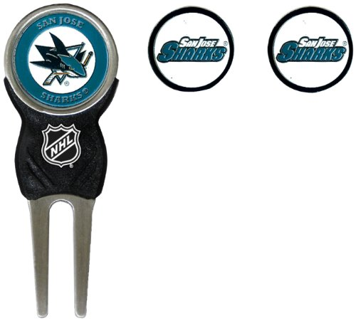 NHL San Jose Sharks Divot Tool Pack With 3 Golf Ball Markers - Nhl Golf