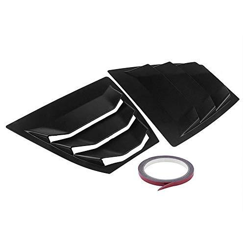 Star-Trade-Inc - Carbon Fiber Rear Window Side Louvers Vent Panel Trim For Mazda 3 Axela 4Dr Sedan 2014 to