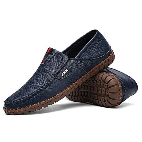 Azul de Ocasionales Negro los Azul genuinos 29 Diseño Negocio 24 Cuero Suave de conducción 0cm Zapatos Hombres Gommino Planos Zapatos Moccasin Zgsjbmh único Zapatos liviano Zapatos de y del Tamaño 0cm AxvPnqzqFw