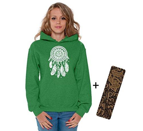 Awkward Styles Awkwardstyles Women's Dream Catcher Hoodie White Hooded Sweatshirt + Bookmark 3XL (Dream Hoody Sweatshirt)
