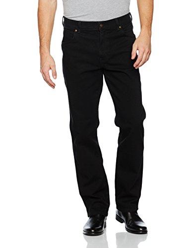 Black Hombre para Jeans Wrangler Fit Black Negro Regular Xw6qcCE
