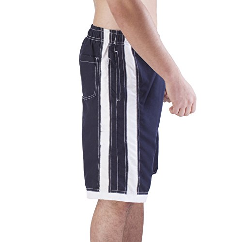 Mens QUICK DRY Bathing Swim Trunks With Cargo Pockets (XXX-L, Navy)