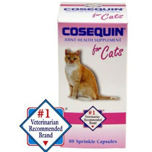 Sprinkle 60 Capsules (Cosequin for Cats 80 Sprinkle Capsules Feline Cat Joint Health Supplement)