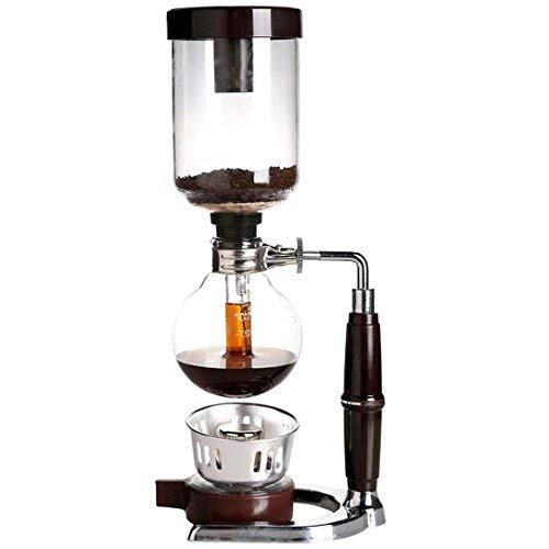 Homend 5 Cup Tabletop Siphon (Syphon) Coffee Maker with Alcohol Burner, Plastic Coffee Powder Spoon, Filter Cloth and Wooden Stirrer