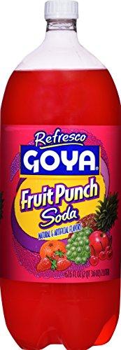Goya Foods Fruit Punch Soda, 2 Liter (Pack of 8)